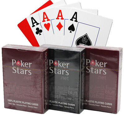 Texas Hold'em Plastic Waterproof Poker Cards For Table Game