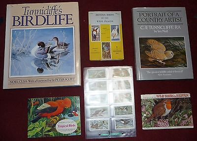 C F Tunnicliffe - 3 books and 2 sets Brooke Bond Cards
