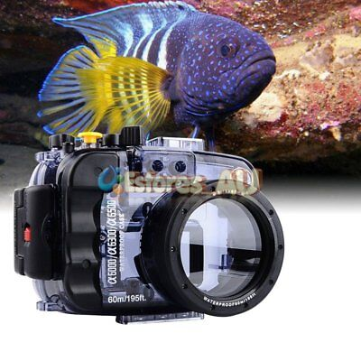 SeaFrogs 60m/195ft Underwater Waterproof Housing Case For Sony A6500 A6300 A6000