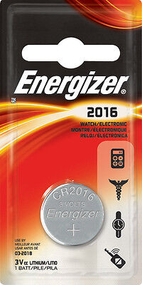 Energizer CR2016 Lithium Battery Twin Pack