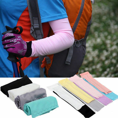1Pair Cooling Arm Sleeves Cover UV Sun Protection Basketball Athletic Sport LK28
