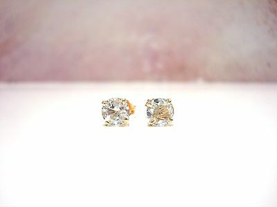 BOUCLES EN OR JAUNE 18 CARATS 750/000 AIGUES MARINES 0.80 gr R75795