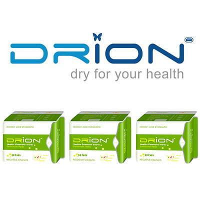 DRION Negative Ion Far Infrared Feminine Menstrual Pads PANTILINER 3 PACK Exp 20