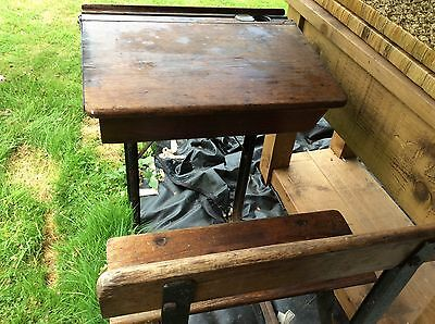 Vintage / Antique School Child's Desk And Seat