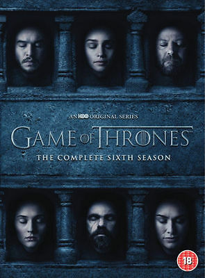 GAME OF THRONES Season 6 DVD Complete Six 6th Series New Sealed UK