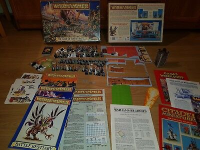 The Game of Fantasy Battles 4th edition, complete, painted WARHAMMER [ENG, 1992]