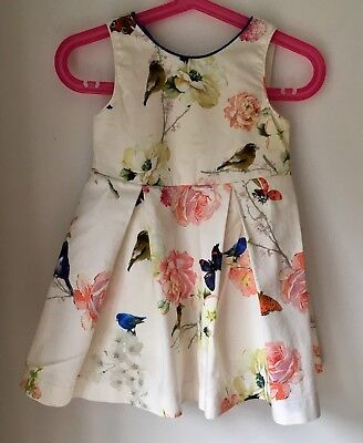 NEXT Baby Girls Size Age 12-18 Months 1-1.5 Years Party Occasion Dress Birds