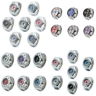 Unique Stainless Steel Random Stretchable Crystal Finger Ring Watches