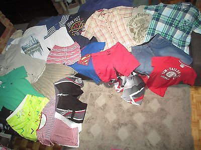 Bulk Lot Men's sz 36/Large summer clothes inc Quicksilver/Ocean & Earth/Factorie