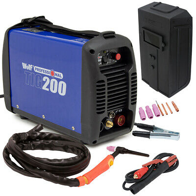 200Amp Wolf Professional 2in1 TIG/ARC Inverter Welder HF ARC Start & Accessories