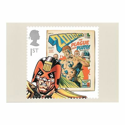 Judge Dredd - A Character From The 2000 Ad Comic Royal Mail Phq 362 Postcard