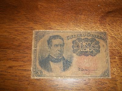 FR 1265 10 cent 1874-1876 Fifth Issue William Meredith
