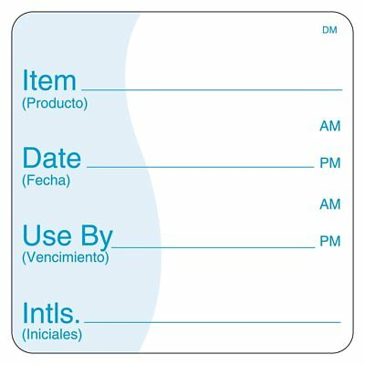 DayMark Safety Systems IT113830 DissolveMark Item/Date/Use By Dissolvable Label,