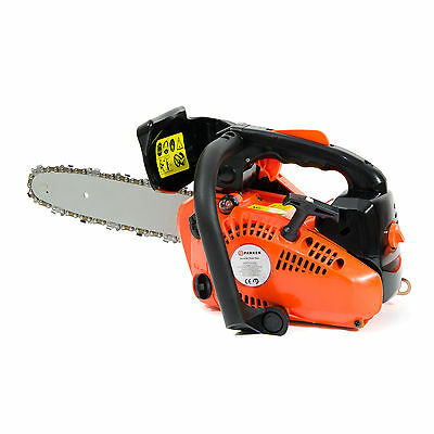 """26cc 10"""" Petrol Top Handle Topping Chainsaw - Free Bar Cover & More"""