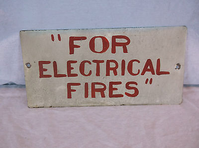 Vintage Metal Electrical Fire Sign Industrial Warehouse Factory No Smoking