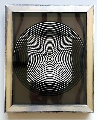 """Double Sérigraphie """"Geometric Forms 2"""" by Victor Vasarely"""