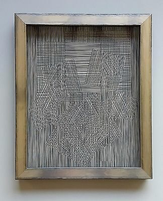 """Double Sérigraphie """"Geometric Forms 4"""" by Victor Vasarely"""