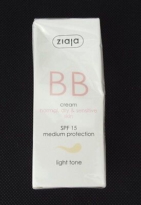 Ziaja BB Cream For Normal, Dry & Sensitive Skin Light Tone 50ml