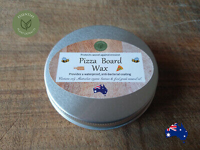 Pizza Board Wax Organic Beeswax & Mineral Oil Food Serving Board Conditioner