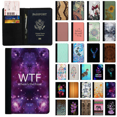 Fashionable Design Travel Wallet Passport Credit ID Card Holder Case Organizer