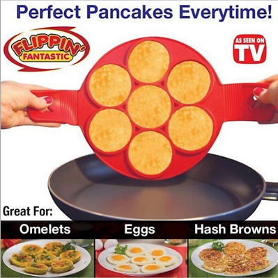 Silicone Flippin Pancake Maker Egg Mould Frying Pan Tray Omelette / Cooking Mat