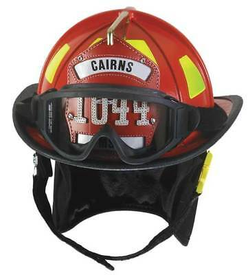 CAIRNS C-TRD-B2C2A3220 Fire Helmet, Red, Traditional