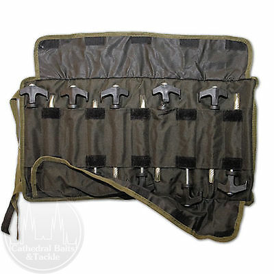 Gardner Tackle Bivvy Pegs (10) With Pouch Carp Coarse Fishing