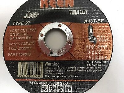 1 KEEN #59041 Raised Hub Slice-It Cutting Blade Cut-Off Wheel 4-1/2 x .045 x 7/8