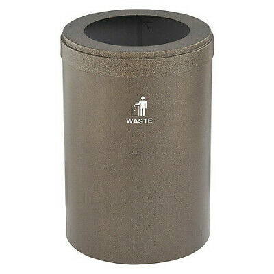 41 gal. Recycling Container Round, Brown Steel GLARO W-2042BV-BV-W