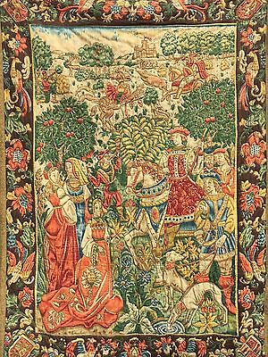 A Stunning Large  French Aubusson Tapestry 61.41 inch high