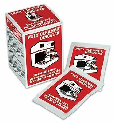 Puly Baby Coffee Machine Descale/Cleaner - Box of 10 sachets x 30g each