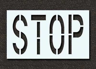 RAE STL-116-72403 Pavement Stencil, Stop, 24 in