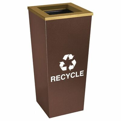 18 gal. Recycling Container Square, Brown Steel TOUGH GUY 22N273