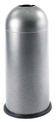 15 gal. Black Steel Round Trash Can SAFCO 9676NC