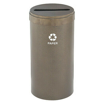 23 gal. Recycling Container Round, Brown Steel GLARO P-1542BV-BV-P