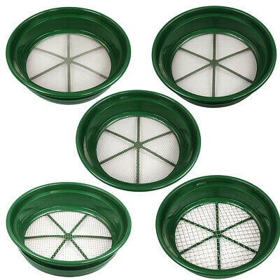 5 pc Green Plastic Classifier Sifter Pan Set Stackable