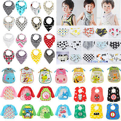 Baby Kids Bandana Bibs Boys Girls Feeding Saliva Towel Waterproof Apron  Dribble