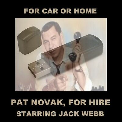 Enjoy Jack Webb Starring As Pat Novak, Private Investigator, In Your Car Or Home