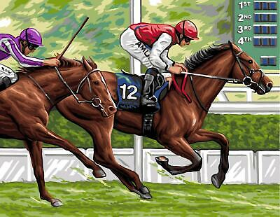 Royal Paris Tapestry/Needlepoint Canvas – The Horse Race