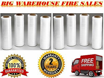 "18"" x 1500FT 80 Gauge Pallet Wrap Stretch Film Shrink Hand Wrap 1500' SQ 8 Rolls"