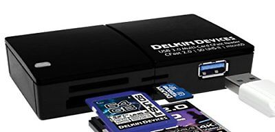 Delkin Devices ddreader-48 USB 3.0 Multi-Slot CFast 2.0/SD UHS-ii/MicroSD, UHS-