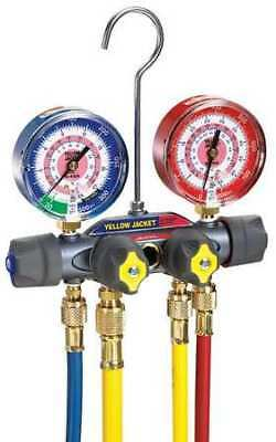 Mechanical Manifold Gauge Set,4-Valve YELLOW JACKET 49960
