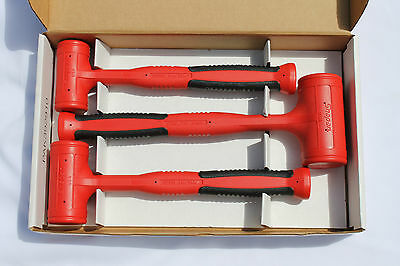 Snap On Tools Dead Blow Hammers 3 Pcs. Soft Grip Set Brand New  # HBFE103