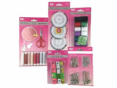 Over 100 Pc Home Travel Thread Threader Needle Tape Measure Scissor Sewing Kit