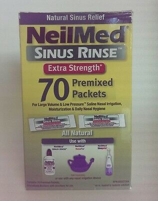 NeilMed Sinus Rinse Extra Strength - 70 Premixed Packets Packets