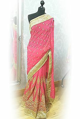 Bollywood style designer indian wedding saree