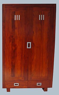 Exceptional Solid Wood Mahogany Wardrobe and King Size Bed at Discounted Price.