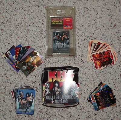 Lot of rare vintage collectible KISS trading cards 200+