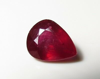 10x8mm RED RUBY PEAR CUT FACETED GEMSTONE