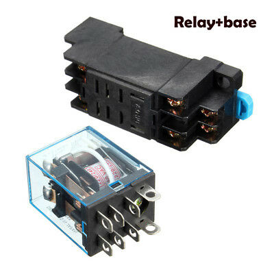 Coil Power Relay MY2NJ HH52P-L 8 Pins 2P2T DPDT With Socket Base 24V/220v 5A
